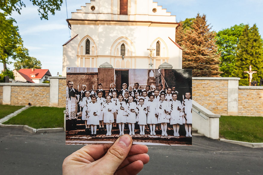 Polish Photographer Combined Old And New Photos Of Same Places To Bring History To Life