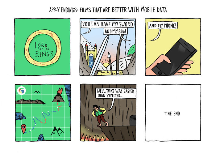 Comic Artist Imagines What Classic Movies Would Be Like If Everyone Had Smartphones (Spoilers)