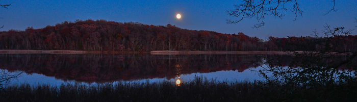 "The Not So ""super Moon"" Photographed At Mud Lake,waterloo Recreation Center ,jackson,mi."