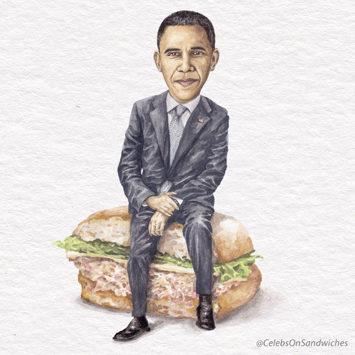 Barack Obama On A Tuna Melt