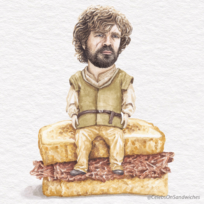 Peter Dinklage Aka Tyrion Lannister On A Braised Beef Sandwich