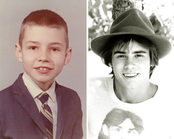 Jim Carrey As A Young Boy And A Young Man