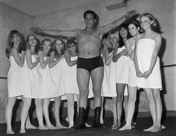 19-Year-Old Andre The Giant During A Fashion Exhibition
