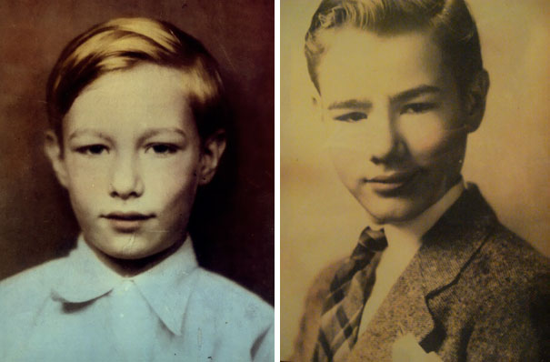 Andy Warhol, The Leading Figure Of Pop Art, At The Age 5 And 12