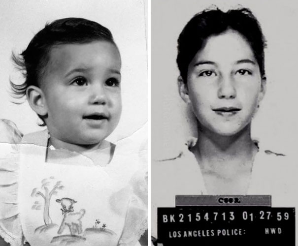 Cher As A Baby And 13-Year-Old At The Mugshot When She Was Arrested For Driving A Car
