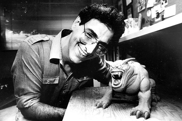 Young Harold Ramis On The Set Of Ghostbusters