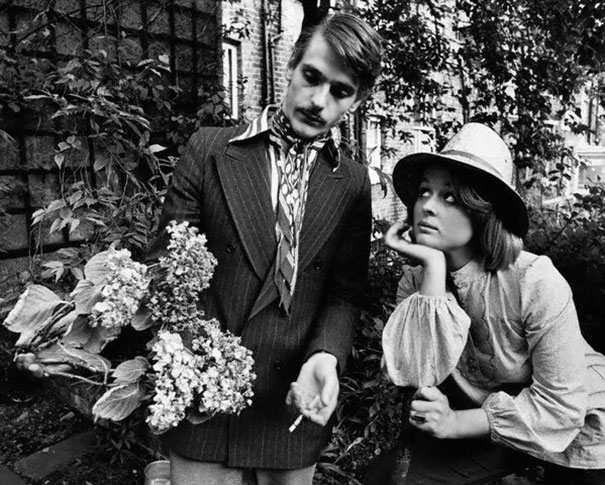 Jeremy Irons And Sinead Cusack In The Garden Of Their New Hampstead Home, 1974