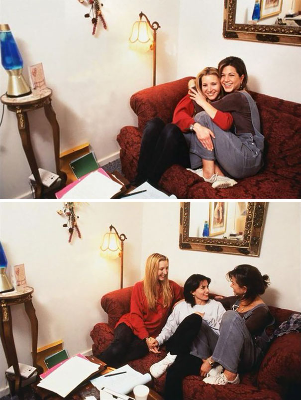 Young Lisa Kudrow, Jennifer Aniston And Courteney Cox Hanging Out