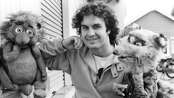 Peter Jackson With Puppets For Meet The Feebles, 1989