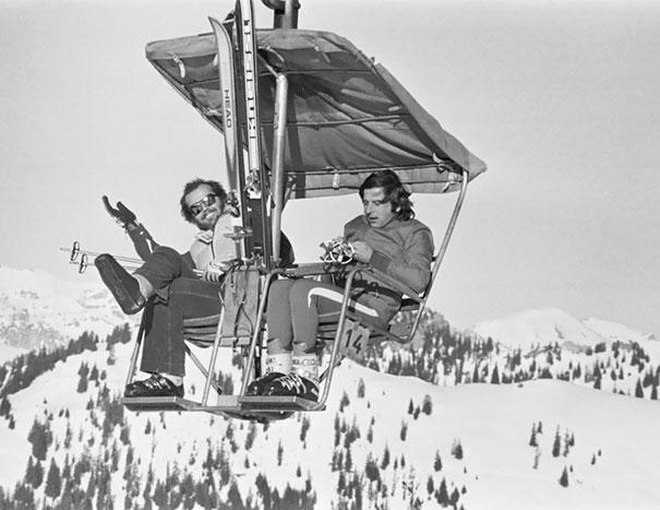 Jack Nicholson And Roman Polanski Vacationing In The Swiss Alps, 1975