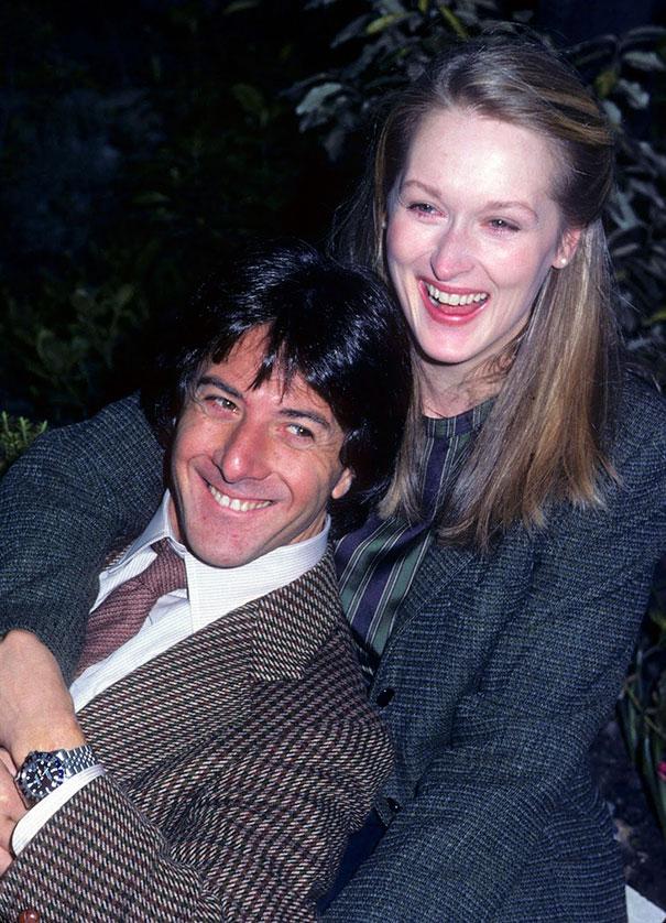 Dustin Hoffman And Meryl Streep On The Set Of Kramer Vs. Kramer, 1979