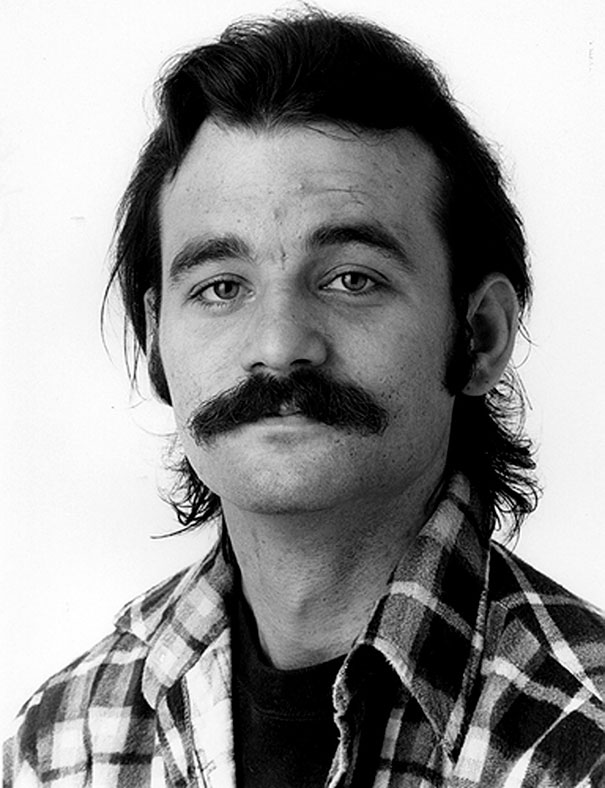 Young Bill Murray With A Moustache