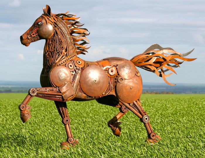 I Turn Scrap Metal Into Life-Size Animal Sculptures