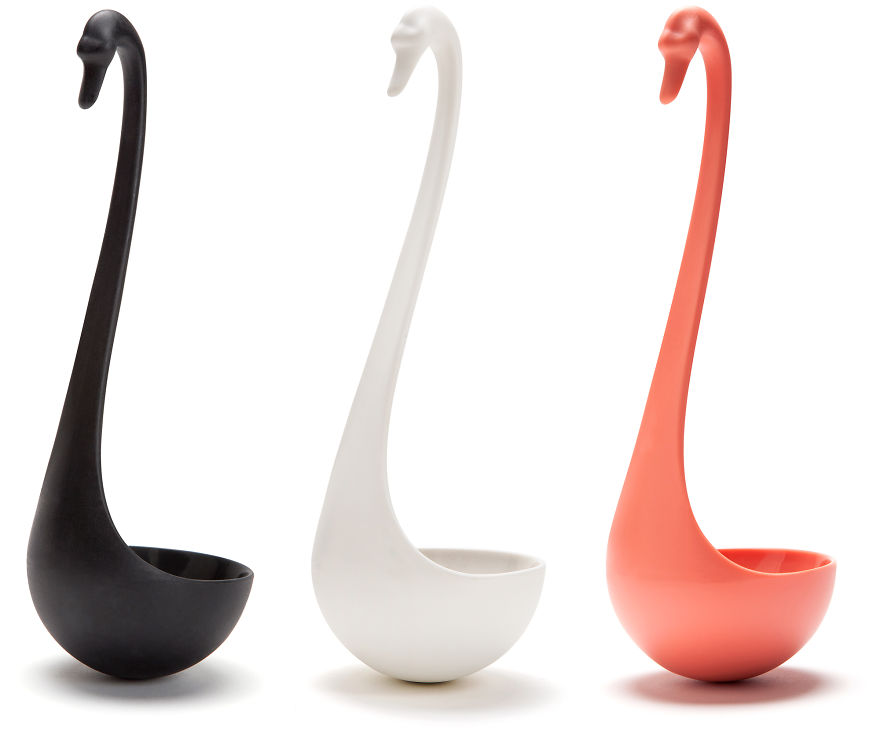 Swan Ladle That Gracefully Floats On Your Soup