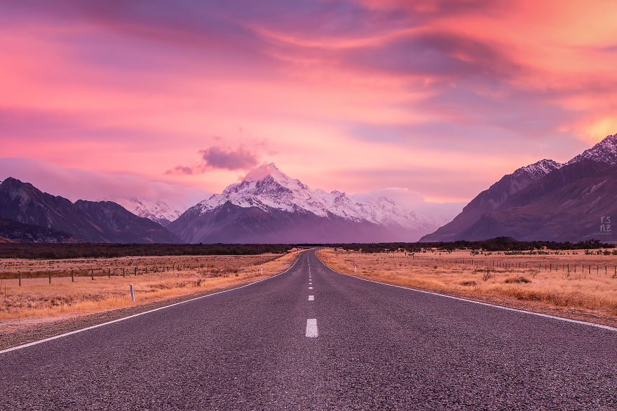 The Road To Mount Cook, Mount Cook National Park