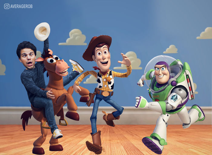 When I Met Buzz And Woody, I Fell Of A Horse And Broke My Wrist...