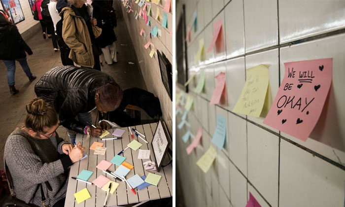 After Elections, Strangers Left Messages On New York's Subway Walls To Remind Us All That We Will Be Okay