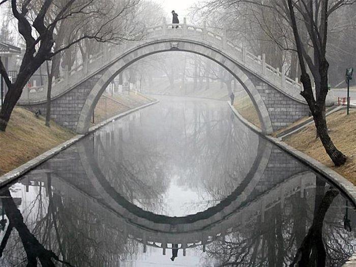 Bridge Reflection Merges Into An Eye