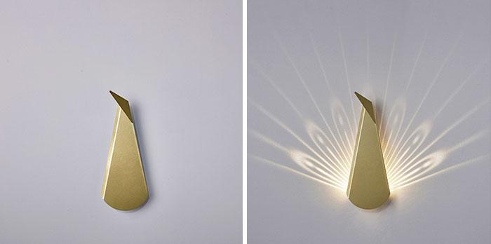 Estas ingeniosas lámparas de pared se convierten en animales al encenderlas