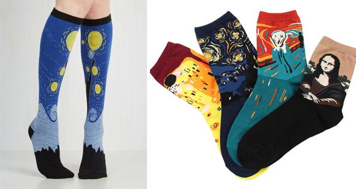 Estos calcetines artísticos son el regalo perfecto para los amantes del arte