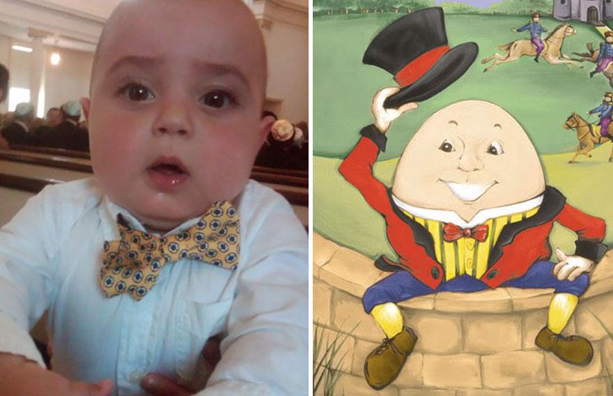 Charlie Looks Like Humpty Dumpty