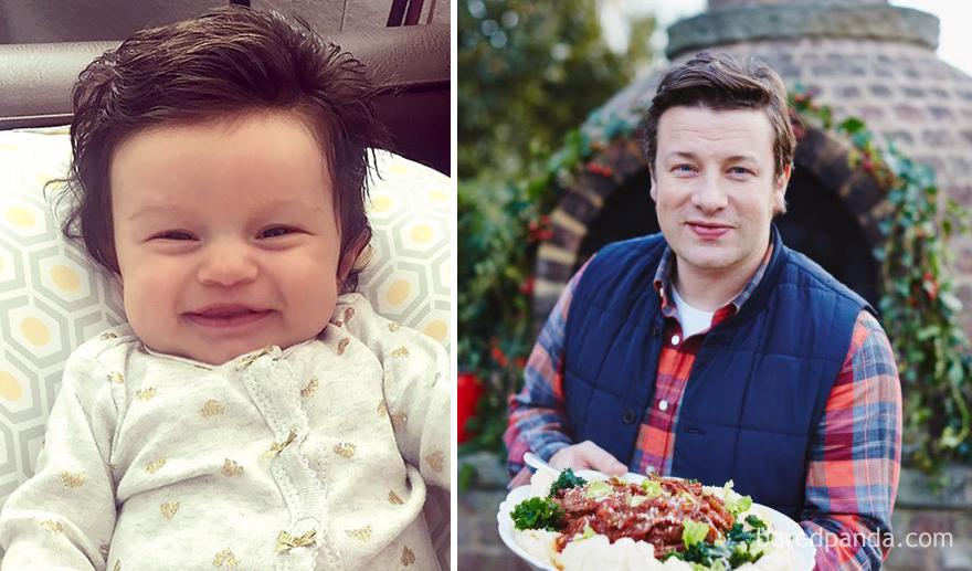 Isabelle se ve como Tiny Jamie Oliver