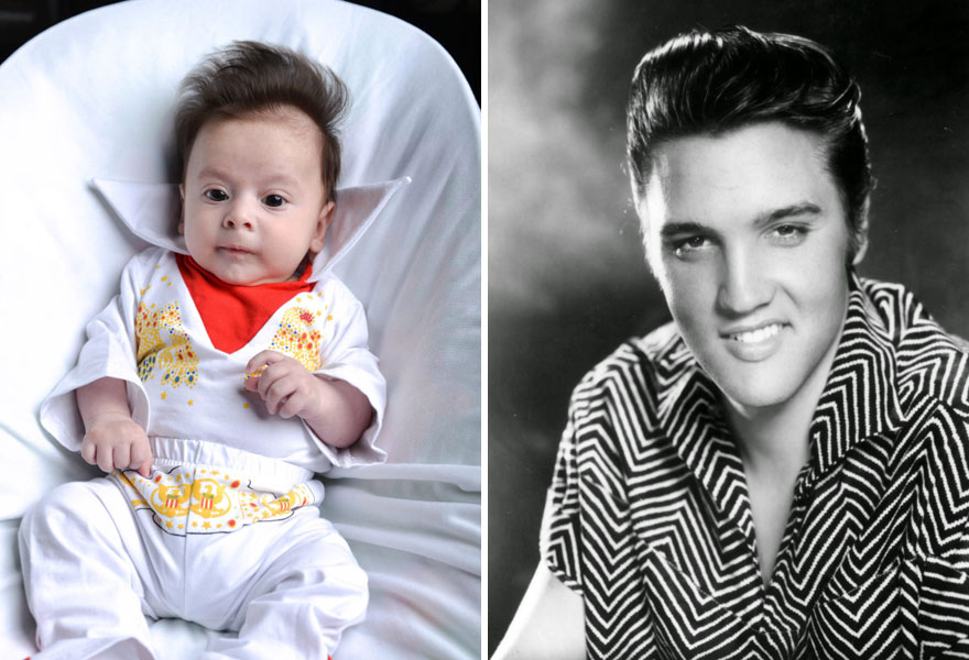 George Georgious Was Even Born With An Elvis-Style Quiff
