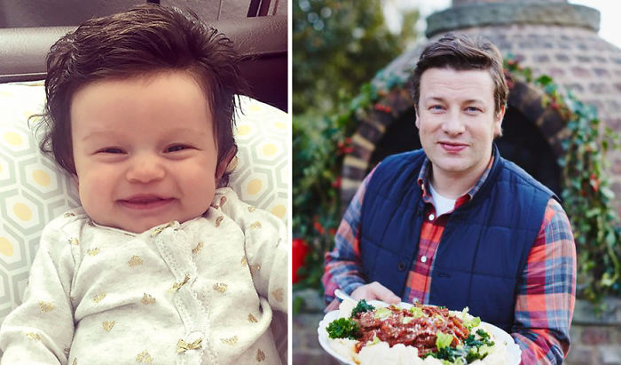 Isabelle Looks Like Tiny Jamie Oliver