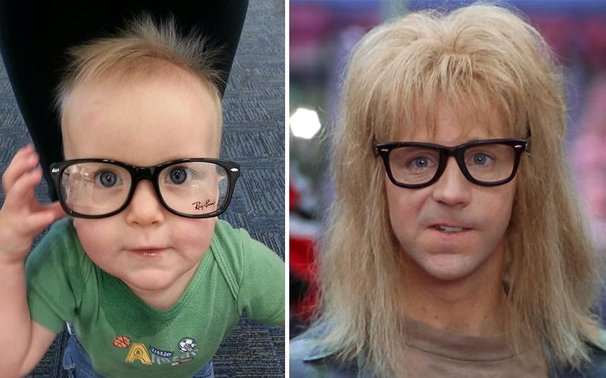 My Friend's Kid Looks Like Garth Algar