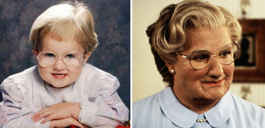My friend's baby pictures look like Mrs. Doubtfire
