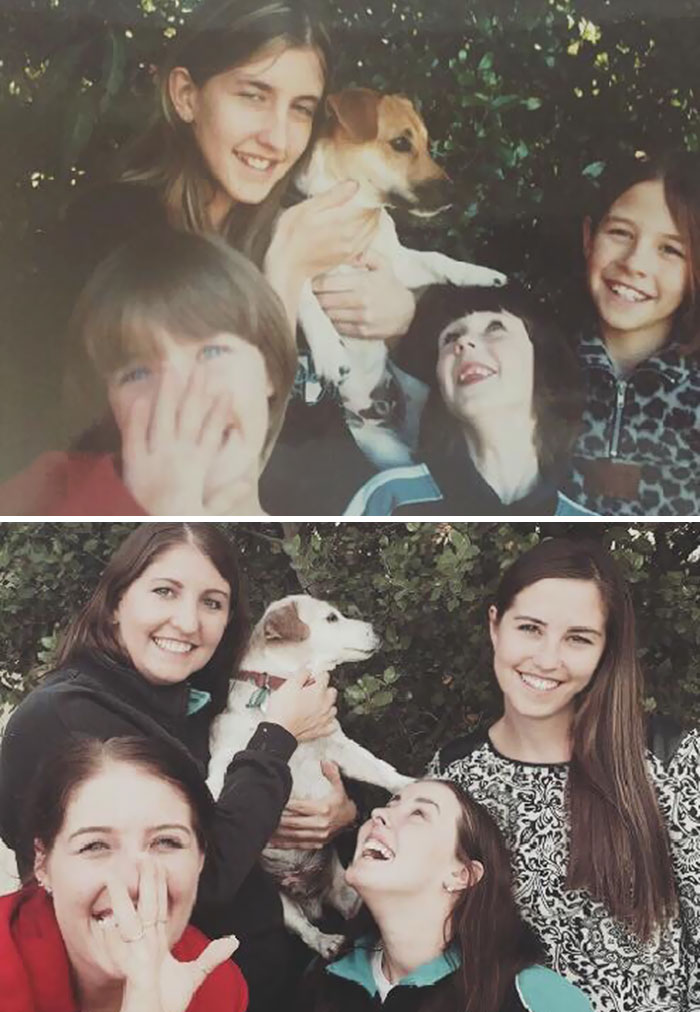 We Recreated Our Favourite Photo With Our Dog Of 16 Years Before Putting It To Sleep