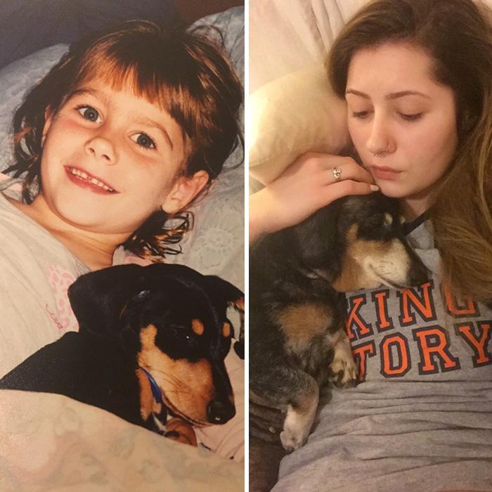 Me And My Weenie 13 Years Apart