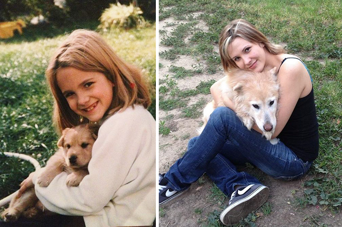 Yo y mi perrito de 14 años más tarde