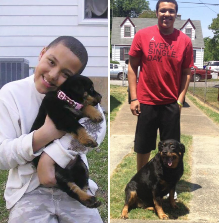 My Dog And I, 8 Years Apart