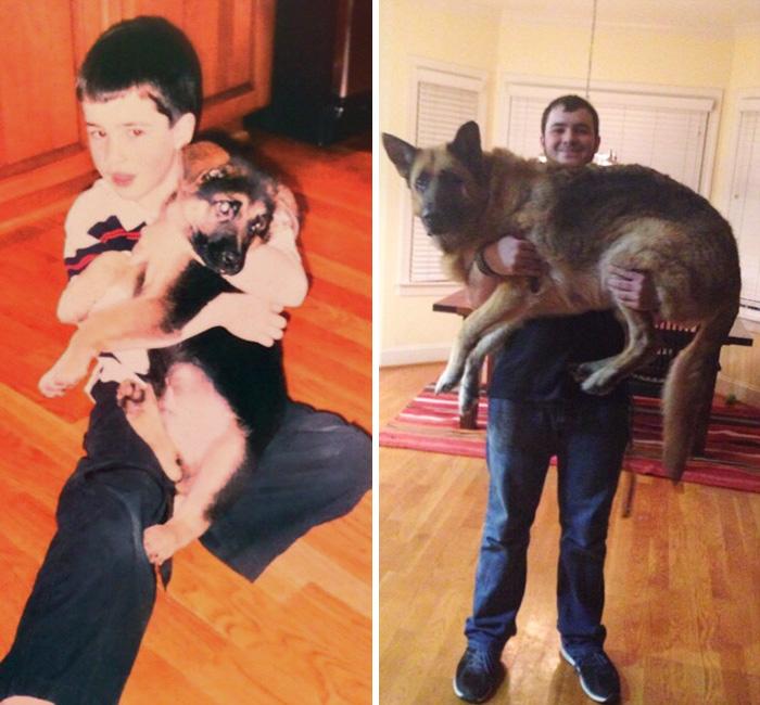 Me And My Big Man 10.5 Years Apart
