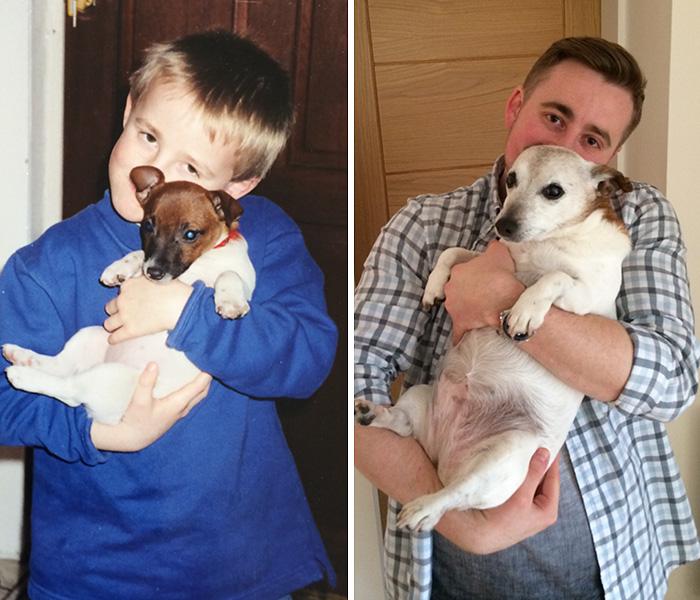 Yo y mi perro de 15 años más tarde