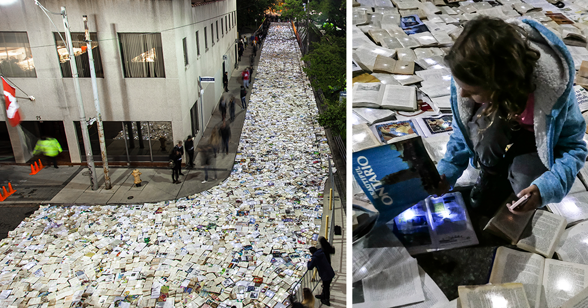 A River Of 10,000 Books Flood The Streets Of Toronto