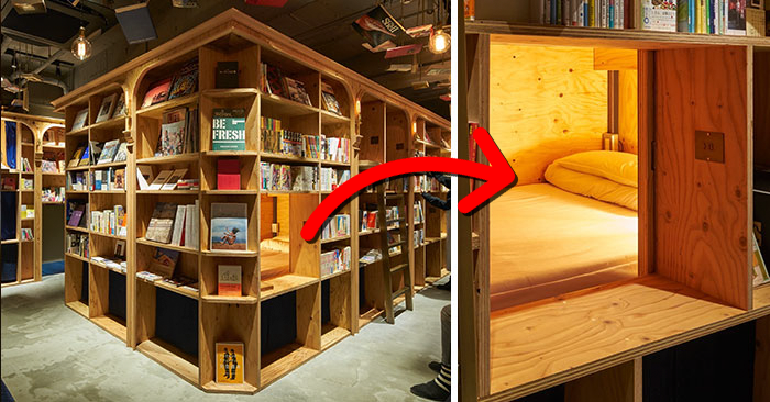 Sleep In A Bookshelf With 5000 Books In Kyoto S New Bookstore Themed Hostel Bored Panda