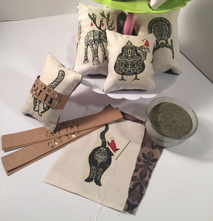 Cute Catnip Cat Toys With My Illustrations On Them