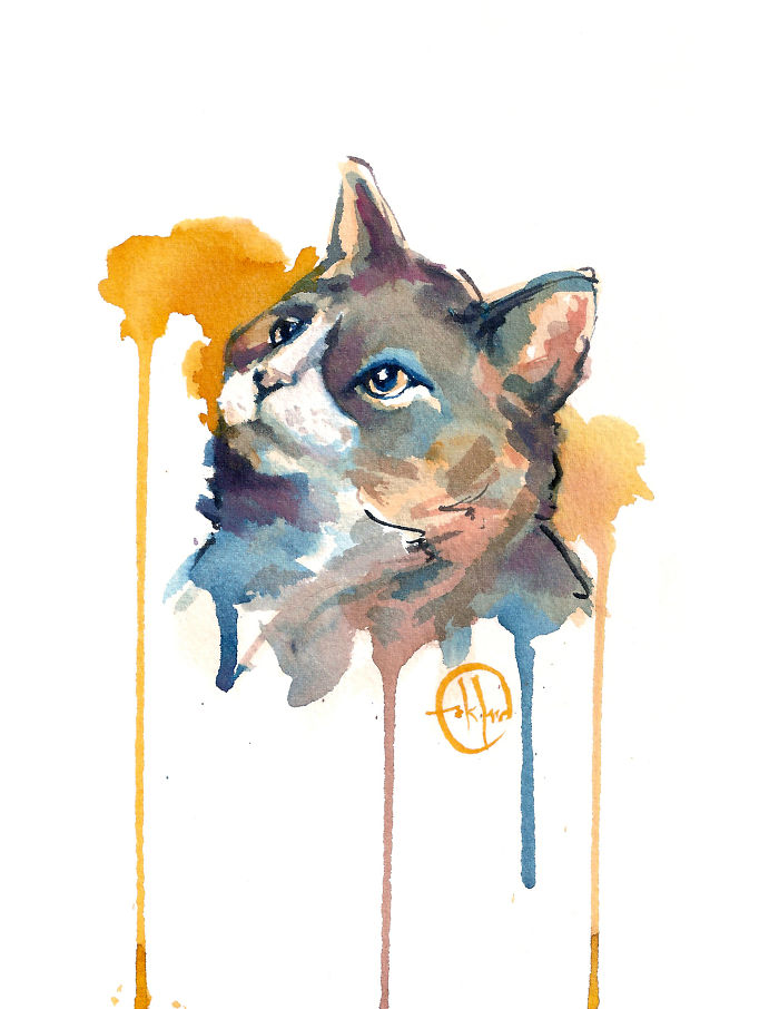 I Painted A Cat Everyday For The Month Of Catober
