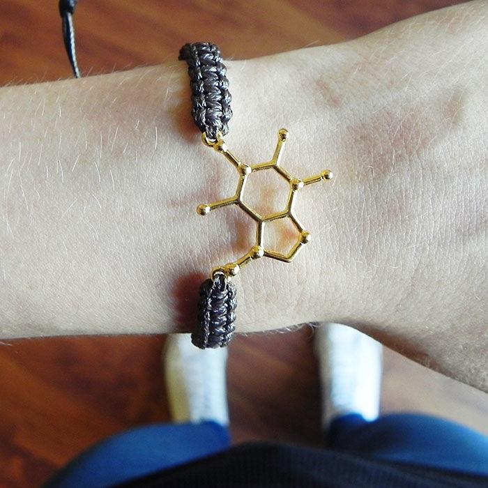 Caffeine Molecule Bracelet