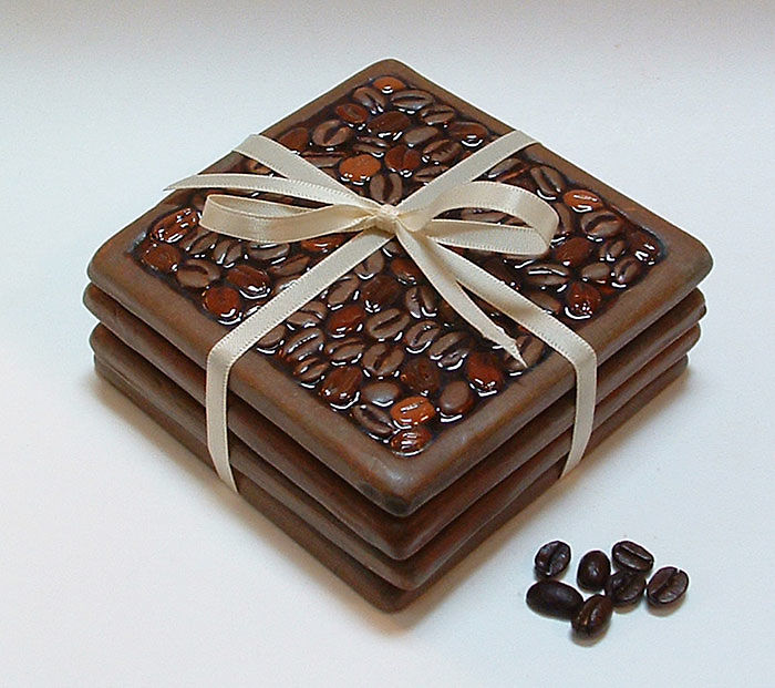 Coffee Bean Coasters