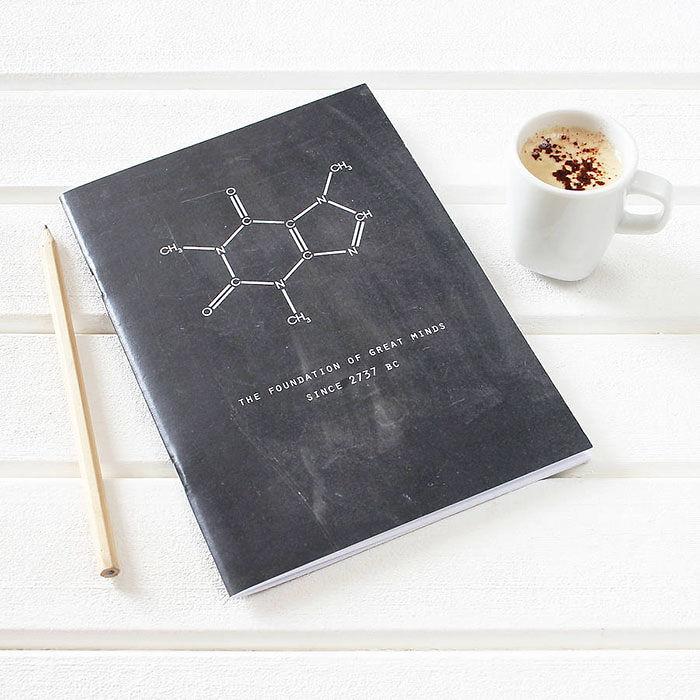 Coffee Science Chalkboard Notebook