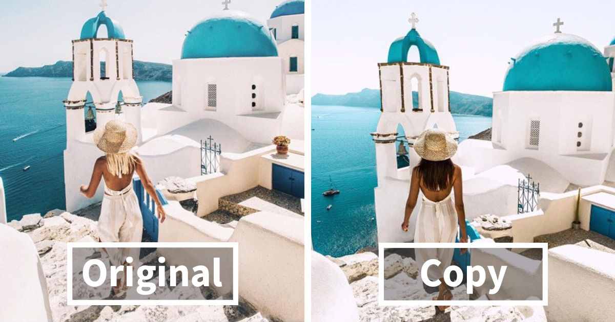 Couple Freaks Out After Realizing Someone Follows Them Around The World Just To Copy Their Travel Photos