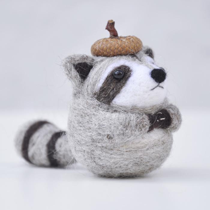 I Make Needle Felted Animal Ornaments Wearing Tiny Acorn Berets