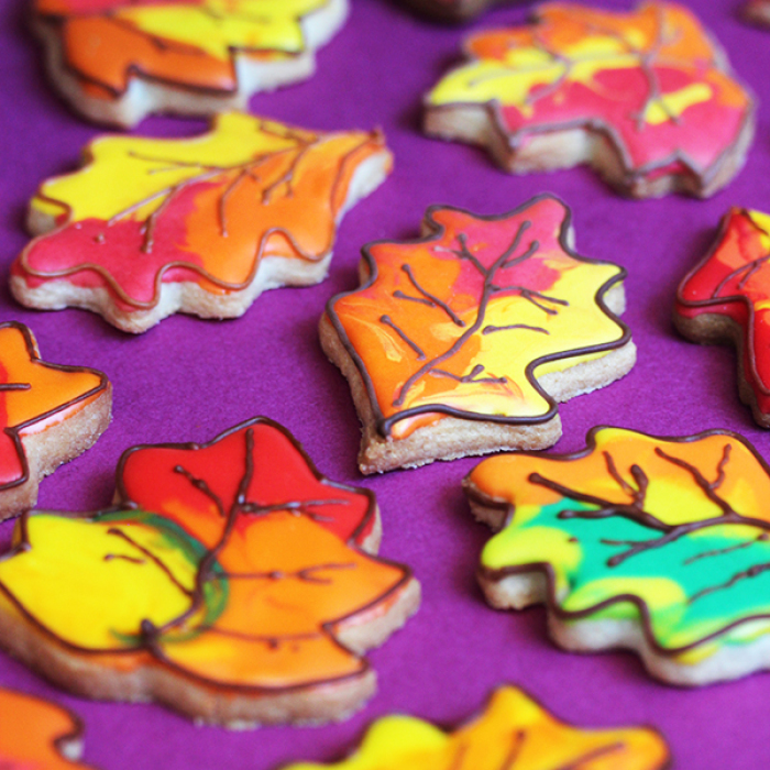 How To Make Fall Leaves Cookies
