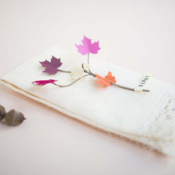 How To Make Leaf And Twig Place Cards