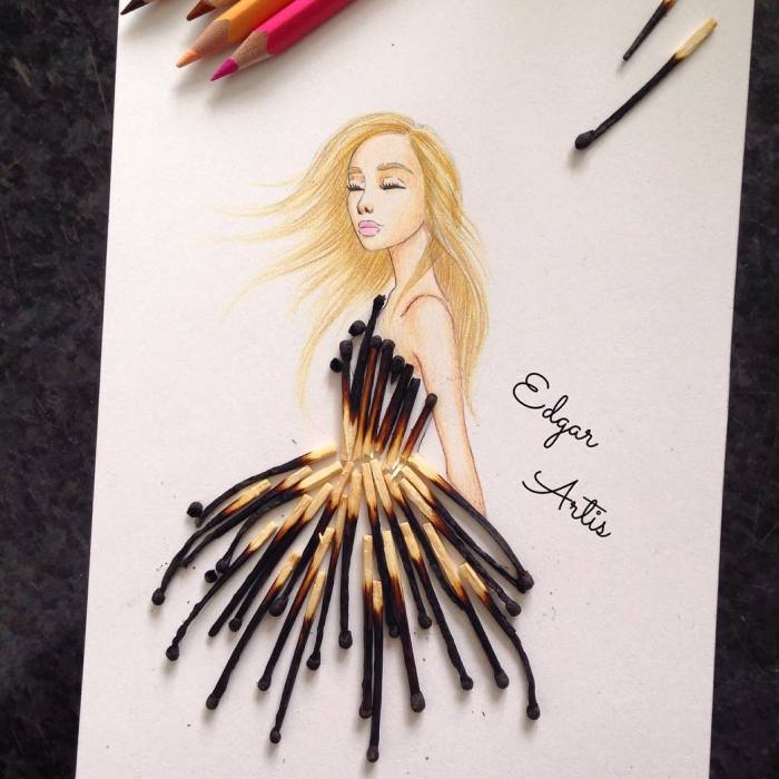 Armenian Fashion Illustrator Creates Stunning Dresses From Everyday Objects (70 Pics)