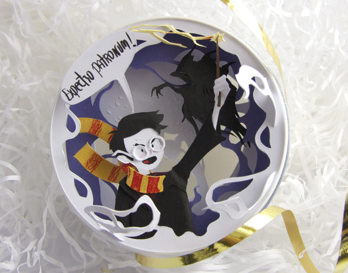 I Made A Series Of Paper Cut Christmas Decorations Inspired By Harry Potter