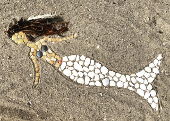 I Make Temporary Mosaic Beach Art (Part 3)